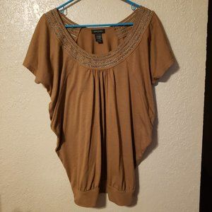 4/$25 Sam & Max Lt Brown Oversized large Tunic